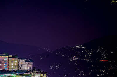 Gangtok Nightscape: Photo by Jayashree Sengupta @DoiBedouin