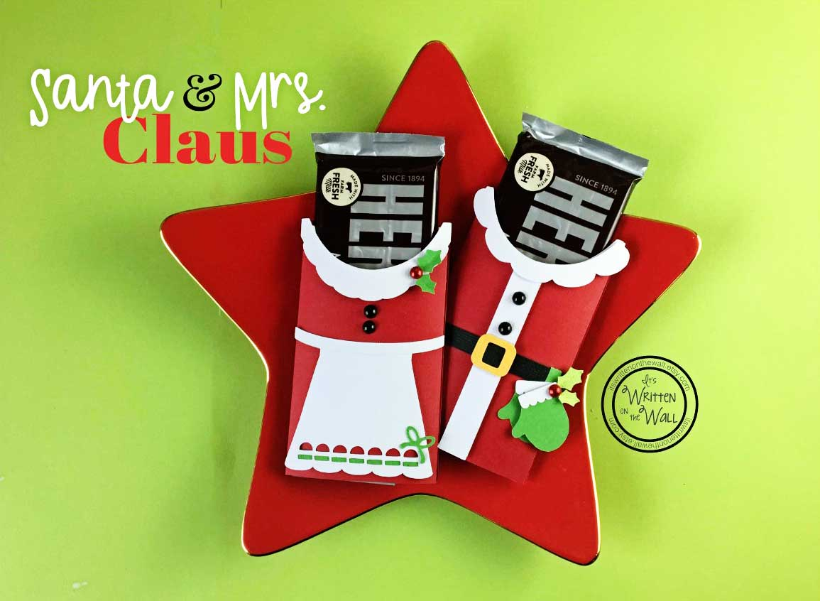 Santa & Mrs. Claus Candy Bar Wraps