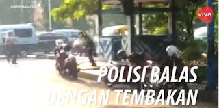 VIDEO AMATIR DETIK-DETIK INSIDEN POLISI DI TANGERANG