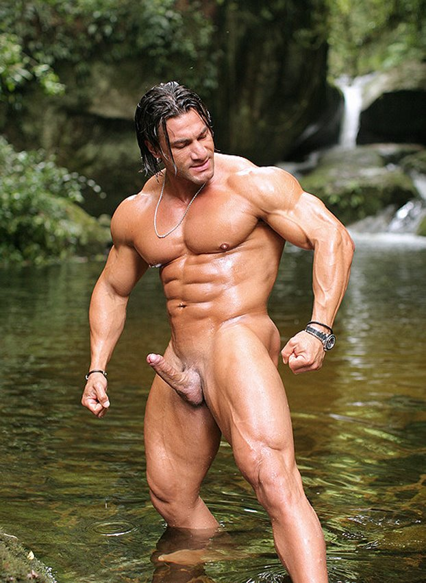 Nude guy muscles 15