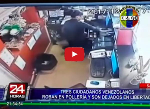 Tres venezolanos robaron una pollera en Perú