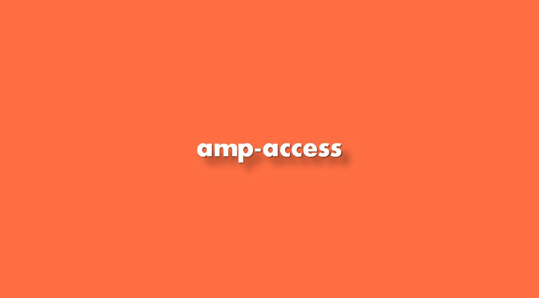Instrucciones amp-access