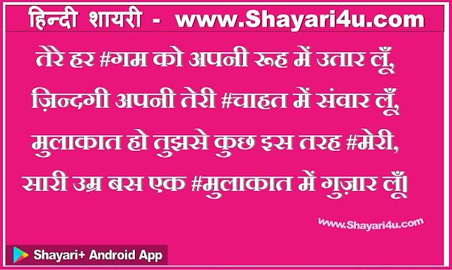 तेरे हर गम को  - Love Hindi Shayari