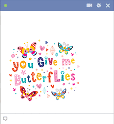 You Give Me Butterflies Image