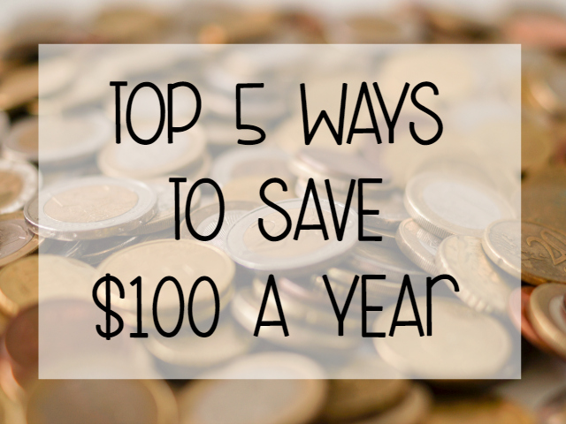 TOP 5 WAYS TO SAVE $100 A YEAR