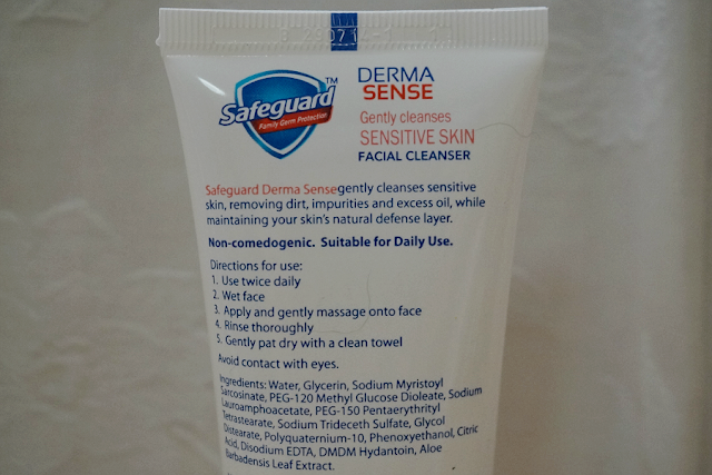 Safeguard Derma Sense Gently Cleanses Facial Cleanser (Sensitive Skin)