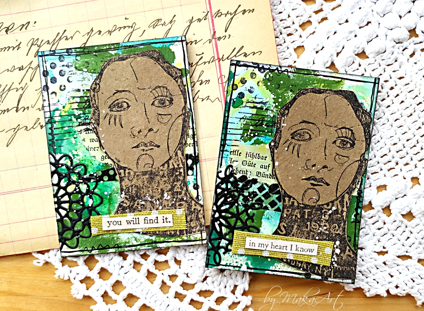 My journey through the mixed media world   : Stamping in
