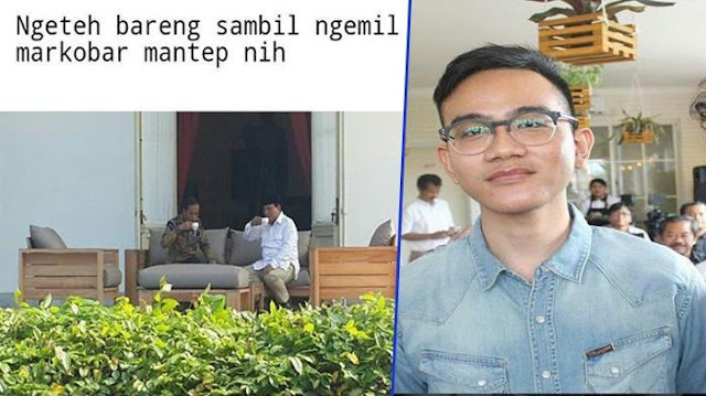 Jokowi Ngeteh Bareng Prabowo, Yang Gak Diajak Gak Usah Baper, Gibran Sindir...