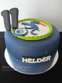 Bolo para o aniversário do dragão Helder
