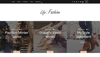 Life Fashion Clean Blogger Template