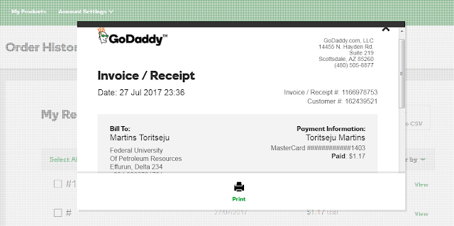 getbarter virtual mastercard used to pay for godaddy domain