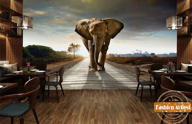 djur tapet elefant tapet häftig fototapet