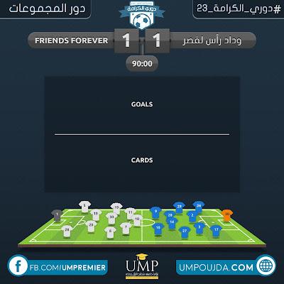 كلية العلوم : دوري الكرامة 23 - دور المجموعات - الجولة الثانية - مباراة 12
