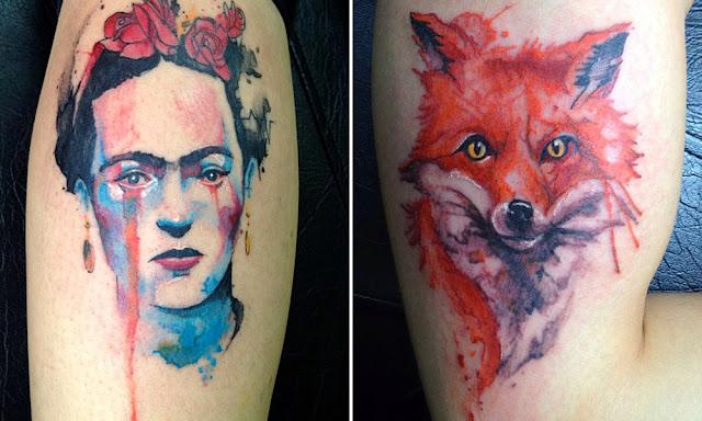 Frida Kahlo e raposa.