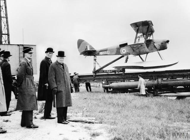 PM Winston Churchill De Havilland Queen Bee drone 6 June 1941 worldwartwo.filminspector.com