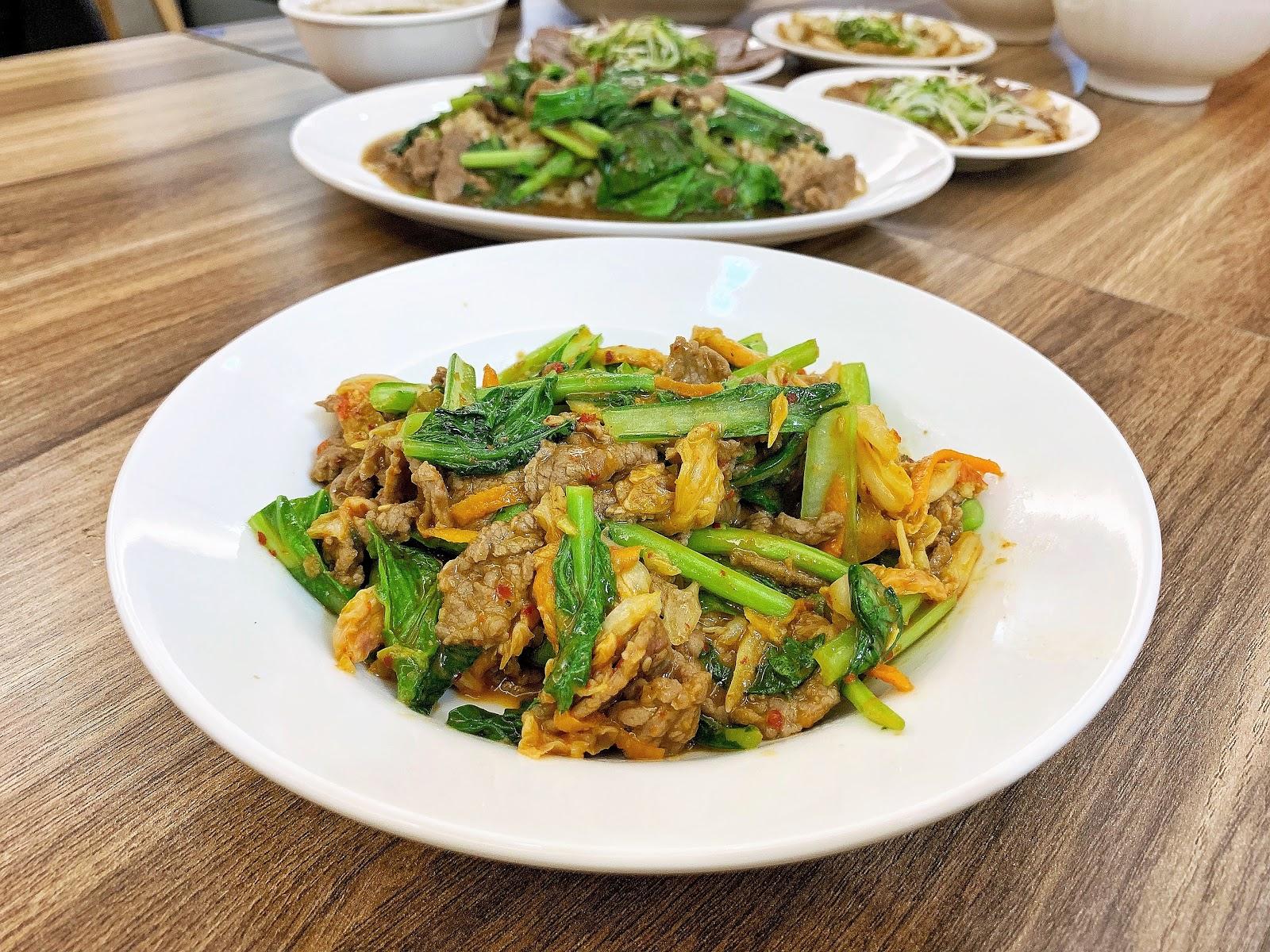 只有牛韓式泡菜炒牛肉