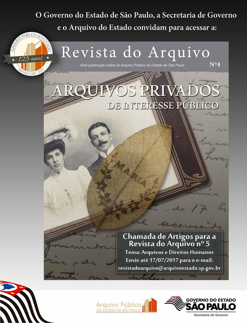 Revista do Arquivo nº 4 - Arquivo Público do Estado de São Paulo