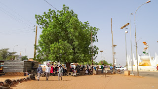 Scenery of daily working day in Niamey