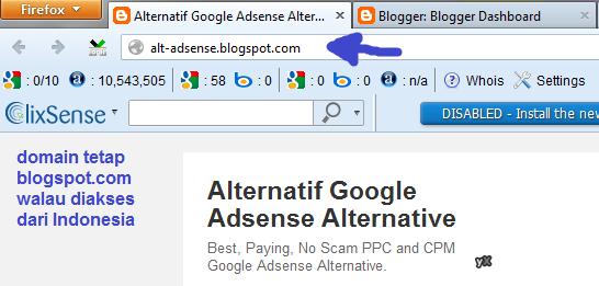 Cara Agar Blogspotcom Tidak Redirect Ke Blogspotcoid Alternatif