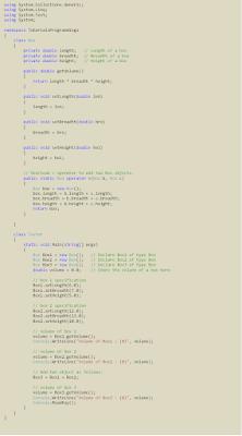 Example C# Operator Overloading