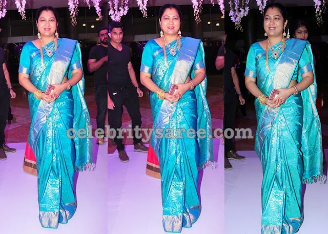 Hema Uppada Sari in Blue