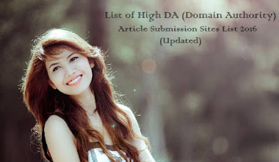 Article Submission Sites List 2016 (Updated)
