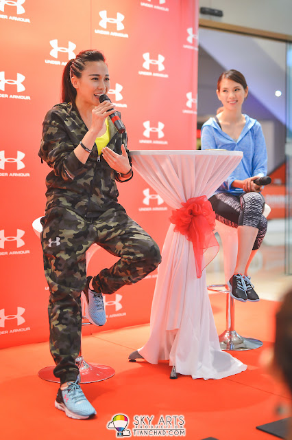Debbie Goh personal sharing at Under Armour Event International Woman's Day Event