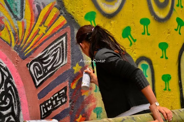 Tamawan Village Making of a Graffitti Mural Baguio City Philippines 3