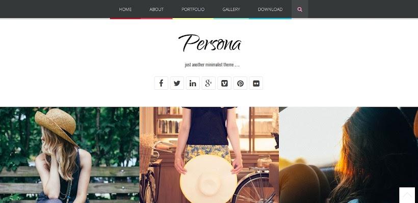 Persona Free Blogger Template