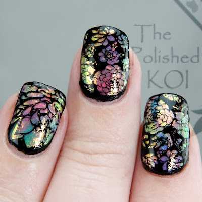Rainbow Opal Nail Art TONIC, FUN, Succulents