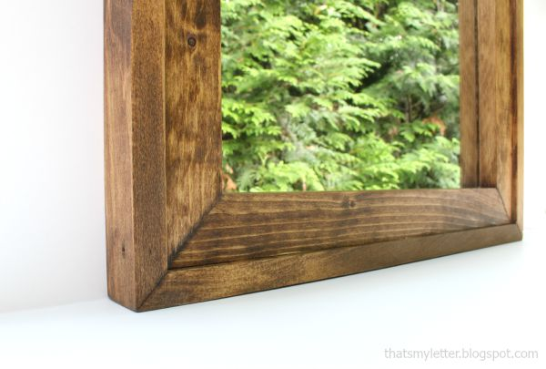 diy simple mirror frame