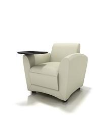 Santa Cruz Series Tablet Lounge Chair on Wheels