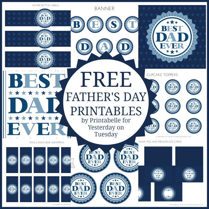 fathers day printables cards - HD1030×1030