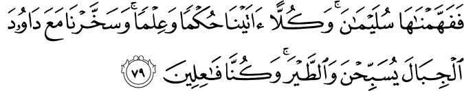 Surat Al Anbiya Ayat 79