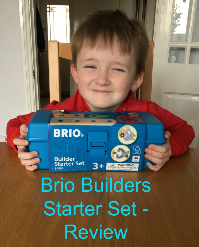 Brio-Builders-Starter-Set-Review-text-over-image-of-boy-with-toy