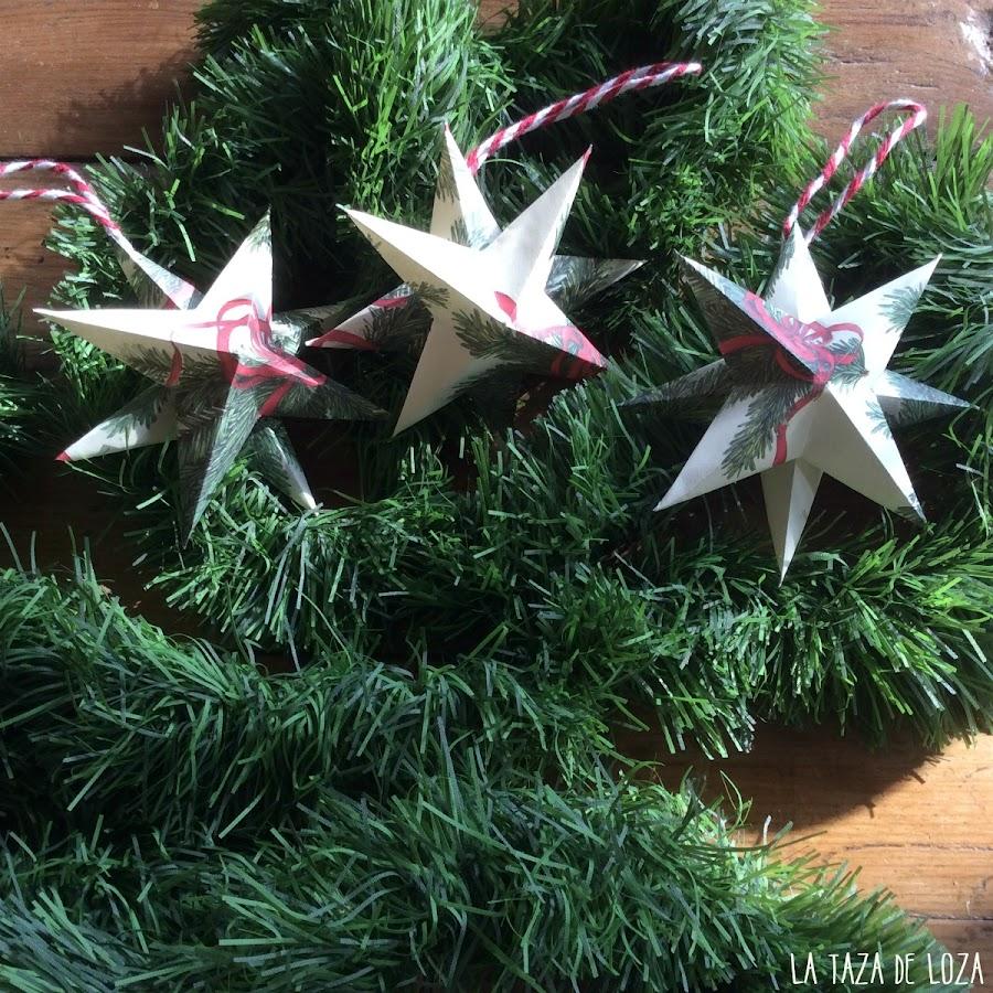 Estrellas-de Navidad-de-papel