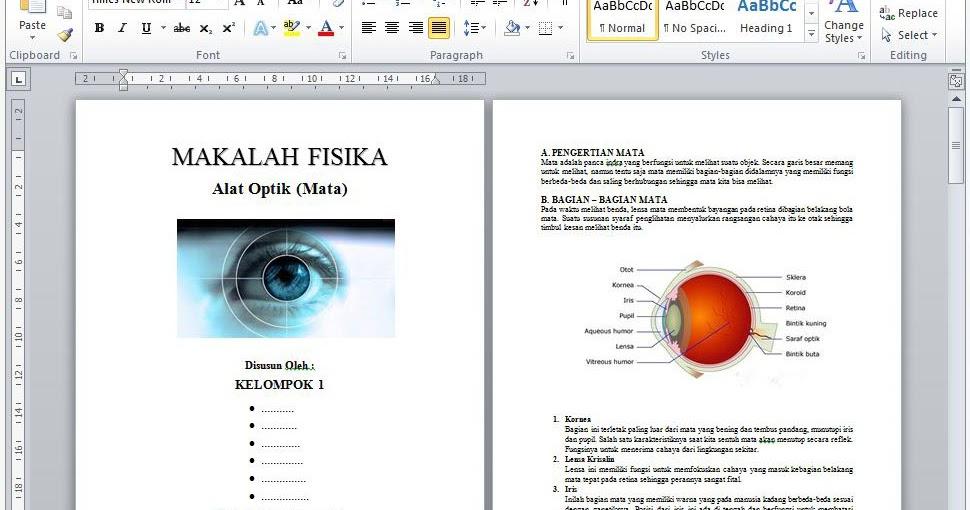 Contoh Makalah Fisika Tentang Alat Optik Mata