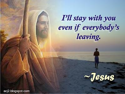 Jesus stays with you artwork