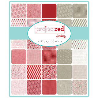 Moda Project Red Fabric by Sweetwater for Moda Fabrics