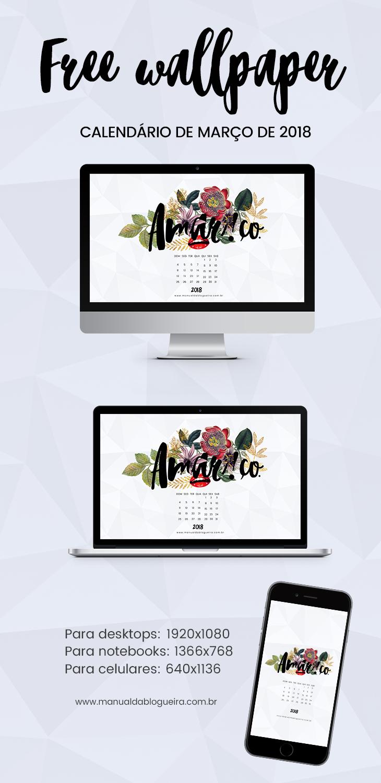 Wallpaper calendário