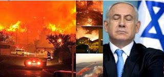 kebakaran di israel azab dari allah swt
