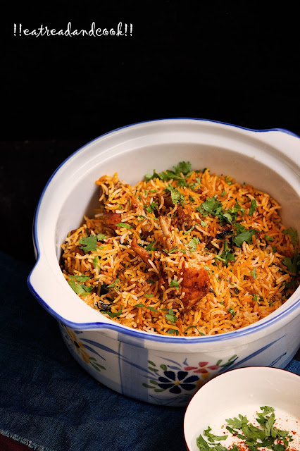 Spicy Kadai Biryani recipe with step by step pictures