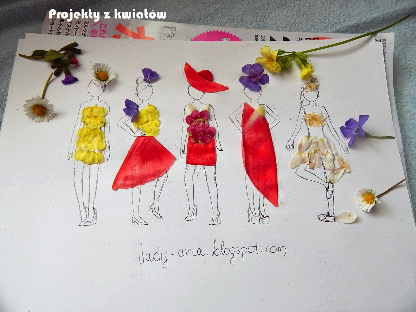 ~110 Projekty z płatków kwiatów