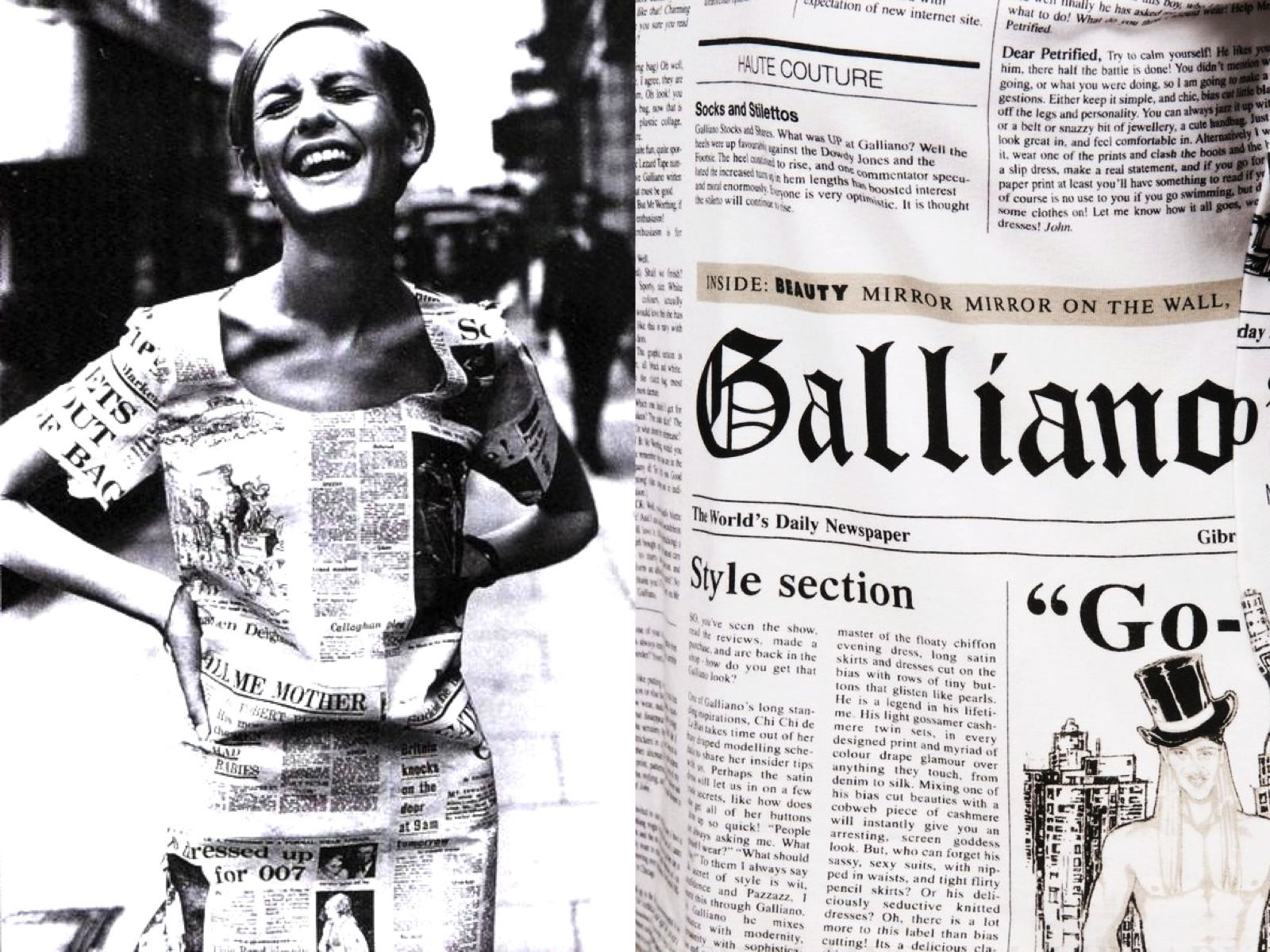 a5b89afc INTO THE FASHION: INSPIRATION Twiggy 1966... Christian Dior SS||2000