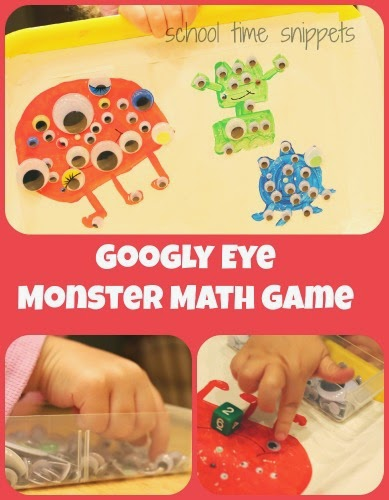 googly eye monster math game