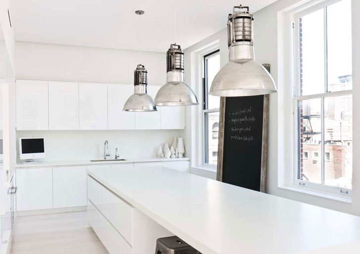 "White kitchen in Modern New York Apartment by ""Resolution: 4 Architecture"""