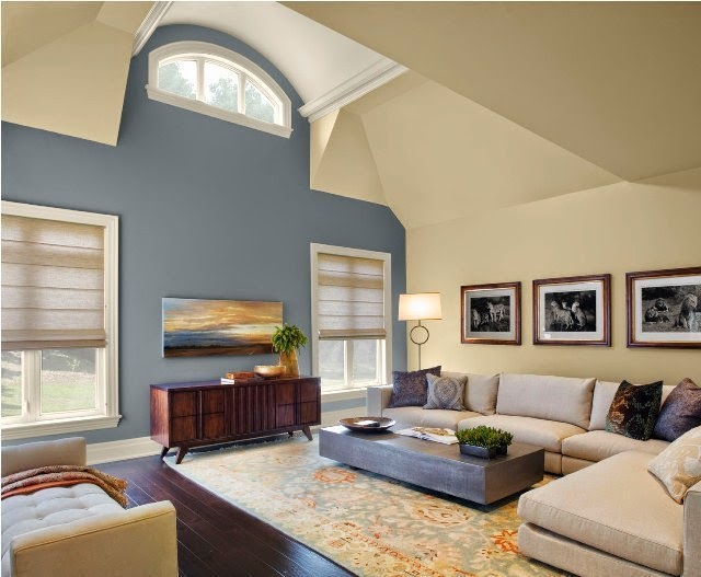 paint colors living room accent wall
