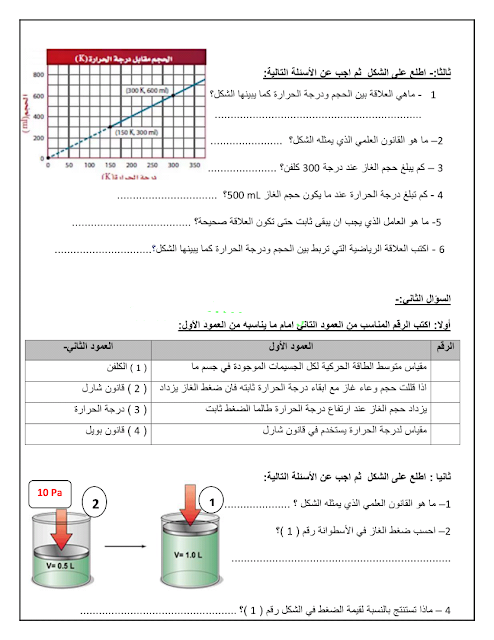 مراجعة العلوم درس سلوك الغازات الصف التاسع