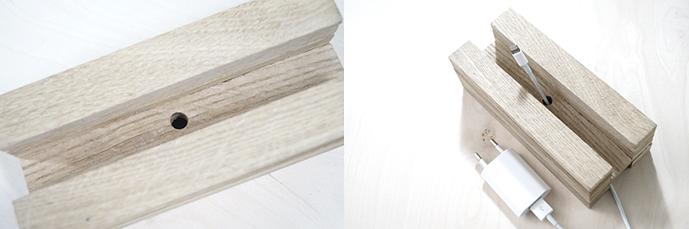 DIY Handyladestation aus Holz