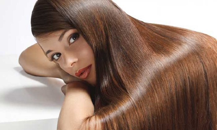 Rambut Hitam Berkilau Dengan Jus Pisang Dan Putih Telur